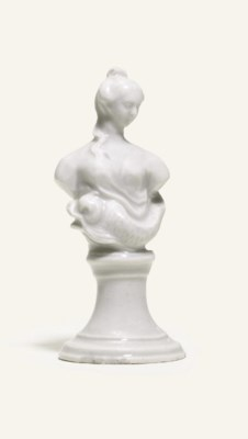 A BADEN-BADEN WHITE BUST OF A