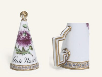 A MEISSEN (MARCOLINI) CANDLE-S