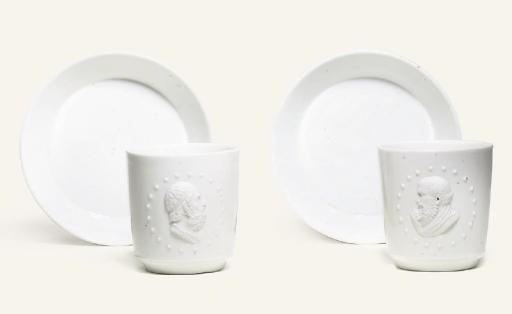 TWO FULDA WHITE PORTRAIT COFFE