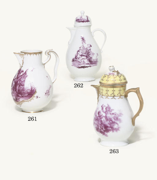 A BERLIN BALUSTER COFFEE-POT AND COVER