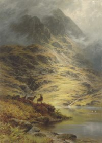 The Incoming Mist, Deer in the Highlands
