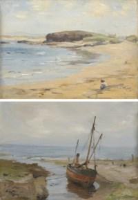 Machrihanish, Argyll; and Low tide