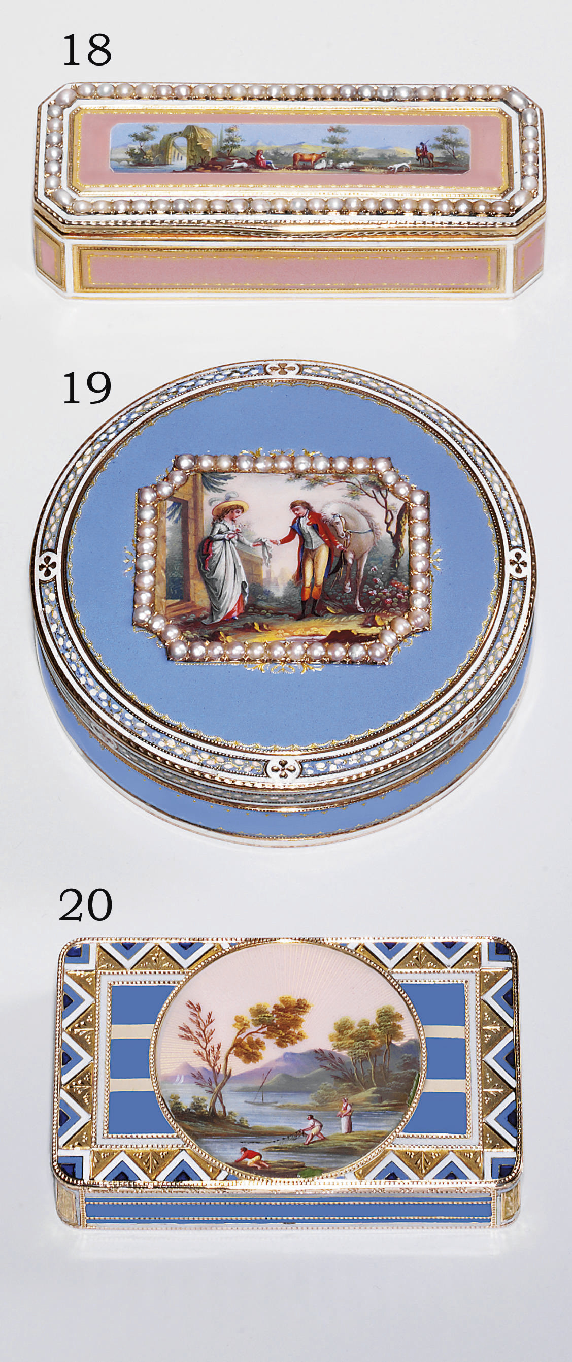 A SWISS ENAMELLED GOLD SNUFF-B