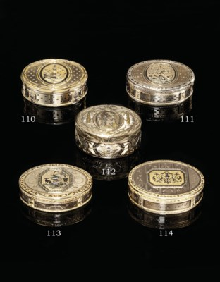 A SWISS FOUR-COLOUR GOLD SNUFF