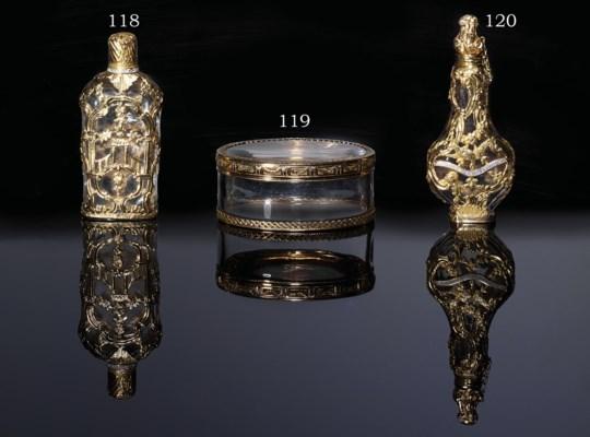 A LOUIS XV GOLD-MOUNTED ROCK-C