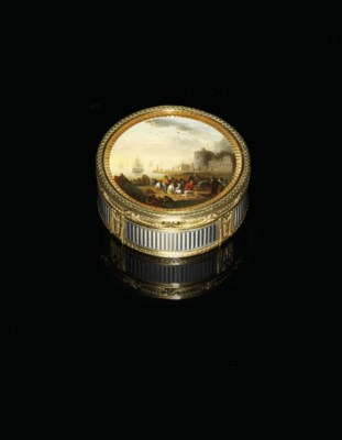A LOUIS XVI ENAMELLED TWO-COLO