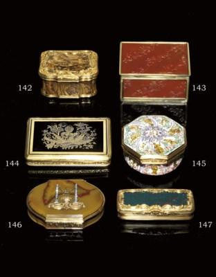 A RARE GEORGE II GOLD AND BURG