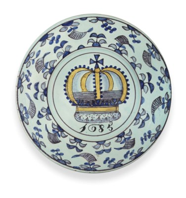A BRISLINGTON DELFT DATED POLY