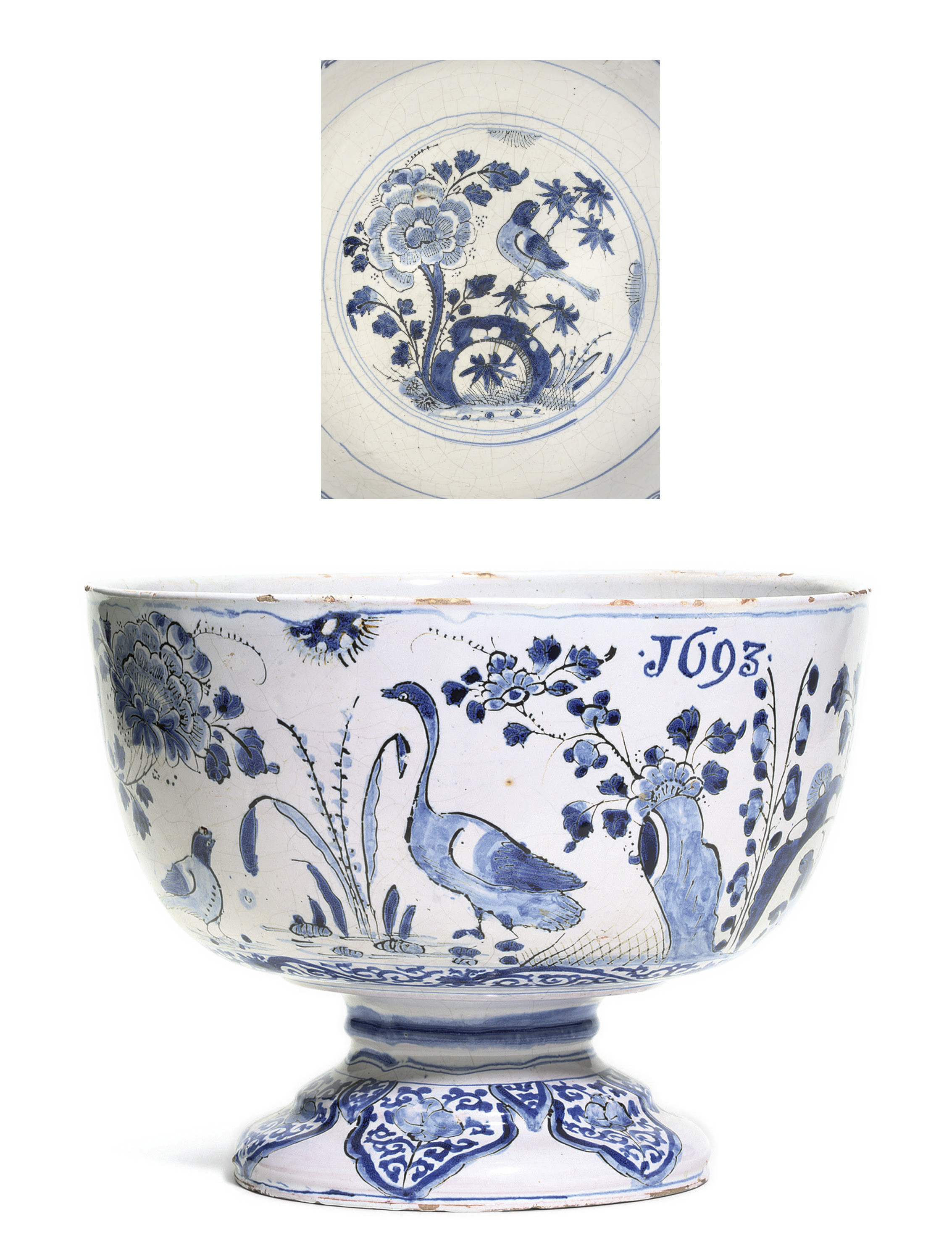 A LONDON DELFT DATED BLUE AND