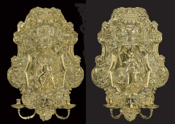 A PAIR OF ANGLO-DUTCH BRASS TH