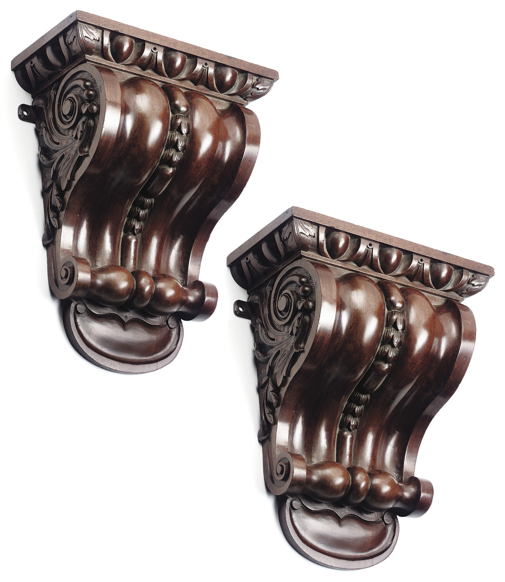 A PAIR OF 'KENTIAN' MAHOGANY W