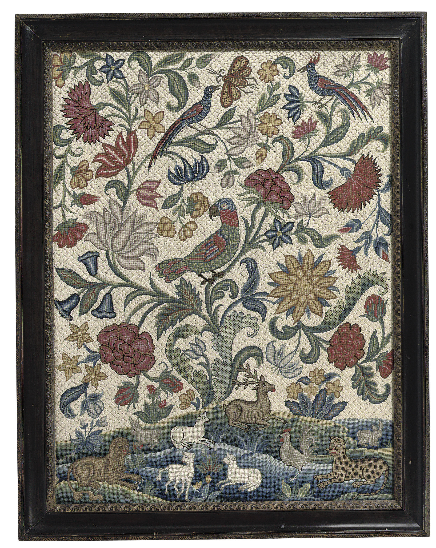 A GEORGE II NEEDLEPOINT PICTUR