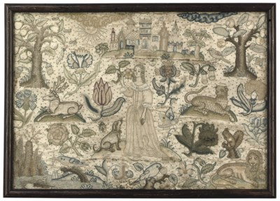 A CHARLES I NEEDLEWORK PICTURE