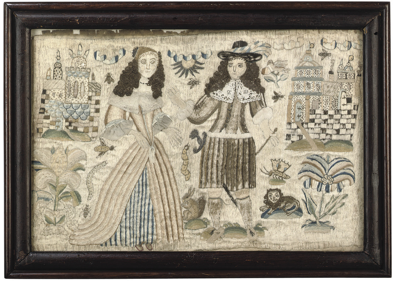 A CHARLES II NEEDLEWORK PICTUR