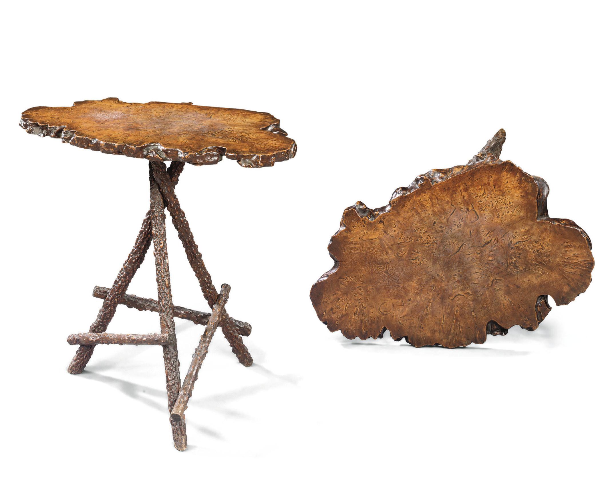A 'RUSTIC' BURR-ELM TABLE