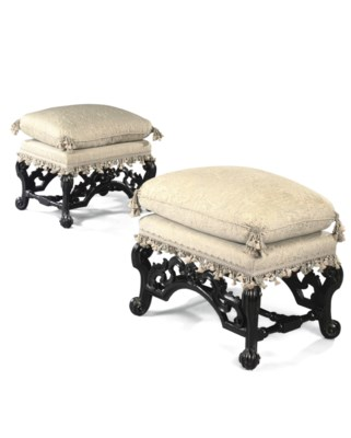A PAIR OF WILLIAM AND MARY EBO