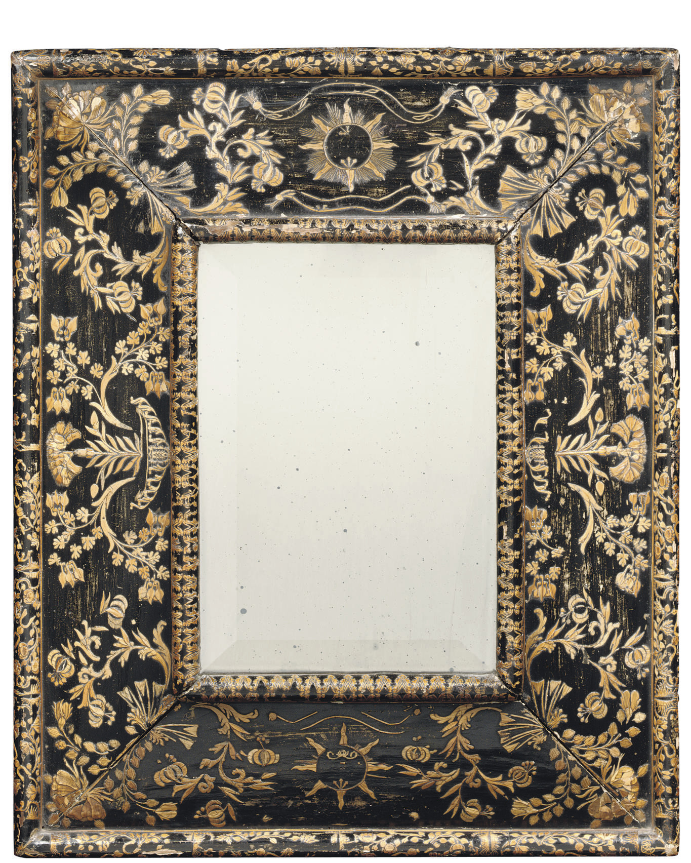 A FRENCH EBONISED STRAW-WORK (