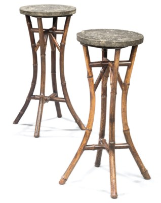 A PAIR OF CHINOISERIE BAMBOO S