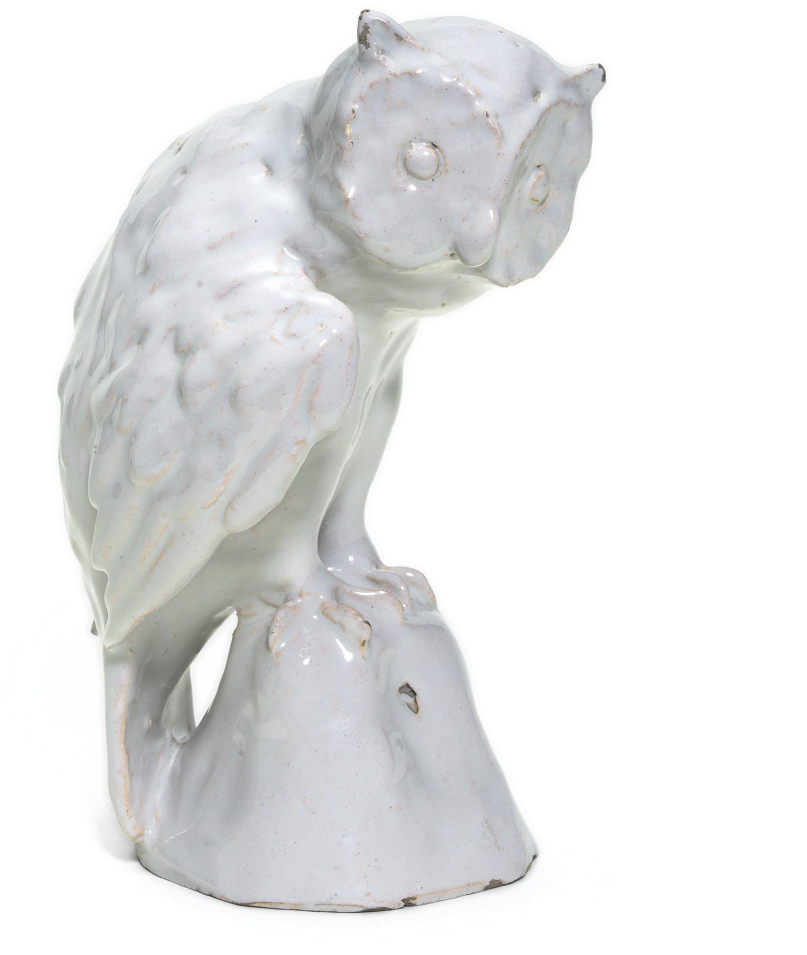 A TIN-GLAZED WHITE MODEL OF A