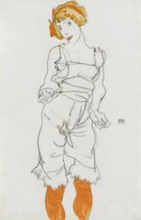 Frau in Unterwäsche und Strümpfen (Valerie Neuzil)