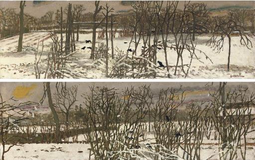 Les corbeaux sur la neige; and Les corbeaux dans les arbres
