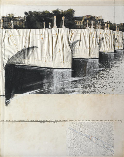 The Pont Neuf Wrapped (Project for Pont Neuf-Paris)