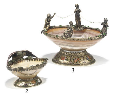 A VIENNESE SILVER, ENAMEL AND