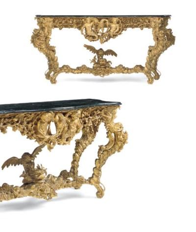 A PAIR OF ITALIAN CONSOLE TABL