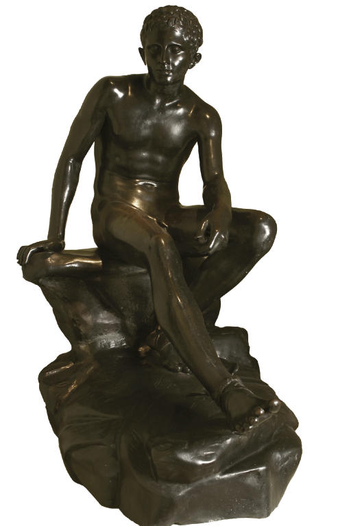 A LIFE-SIZE ITALIAN BRONZE FIG