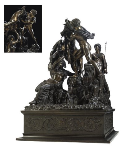 A BRONZE GROUP OF THE FARNESE