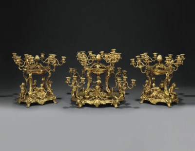 A LARGE NAPOLEON III ORMOLU TH