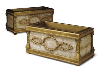 A PAIR OF FRENCH ORMOLU AND ON