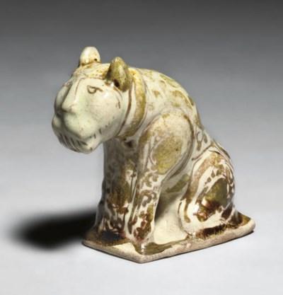 A KASHAN LUSTRE LION