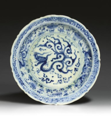 A LATE TIMURID BLUE AND WHITE