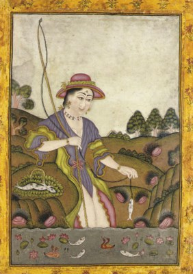 A EUROPEAN LADY FISHING