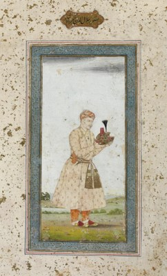 AKBAR HOLDING HIS FATHER'S TUR