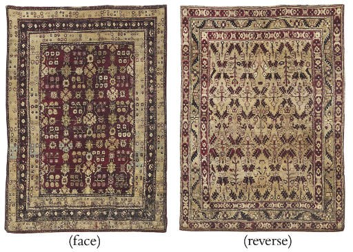 A DOUBLE SIDED AGRA RUG