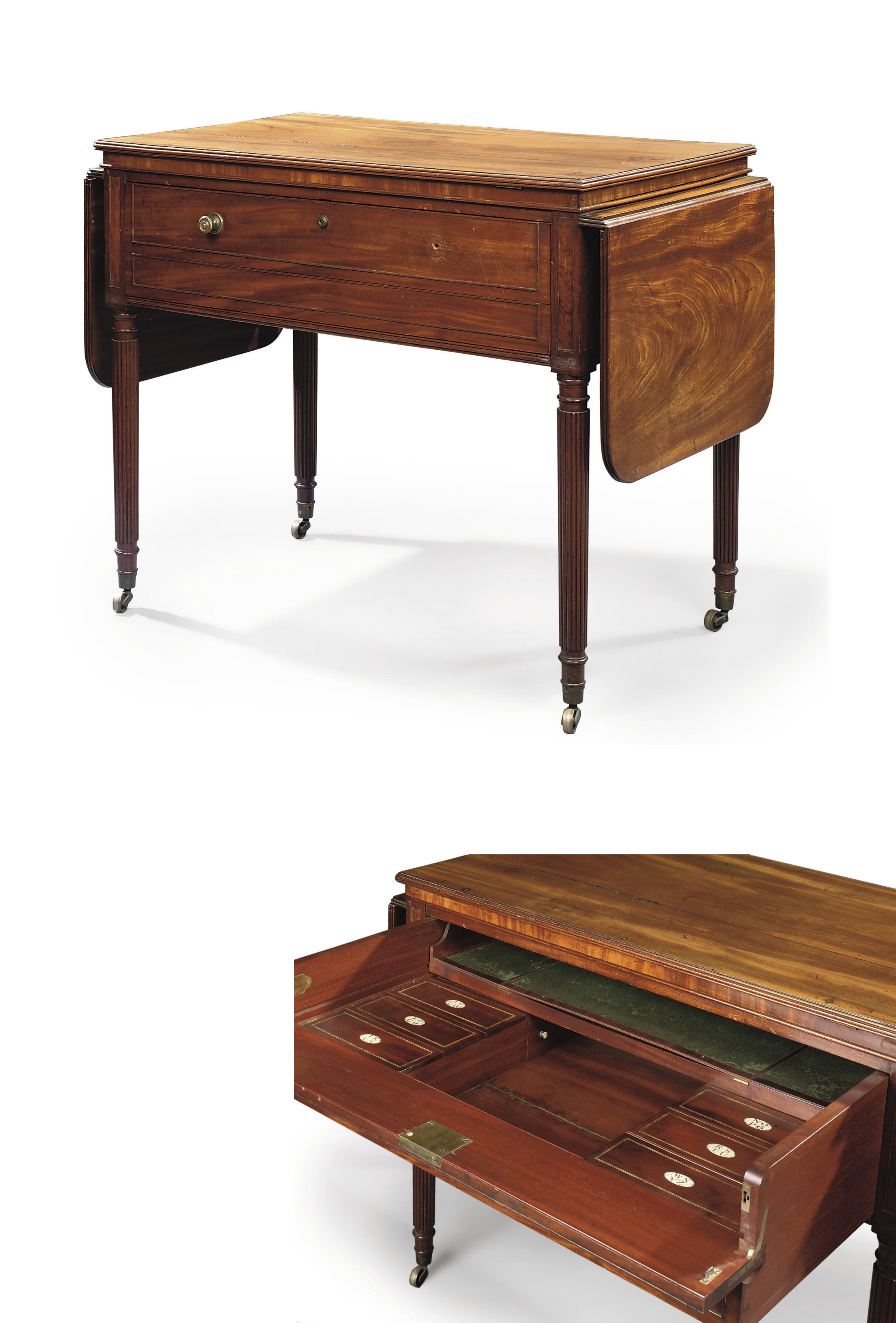 A REGENCY MAHOGANY ARCHITECT'S