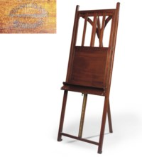 A SCOTTISH LATE VICTORIAN MAHOGANY PICTURE-EASEL