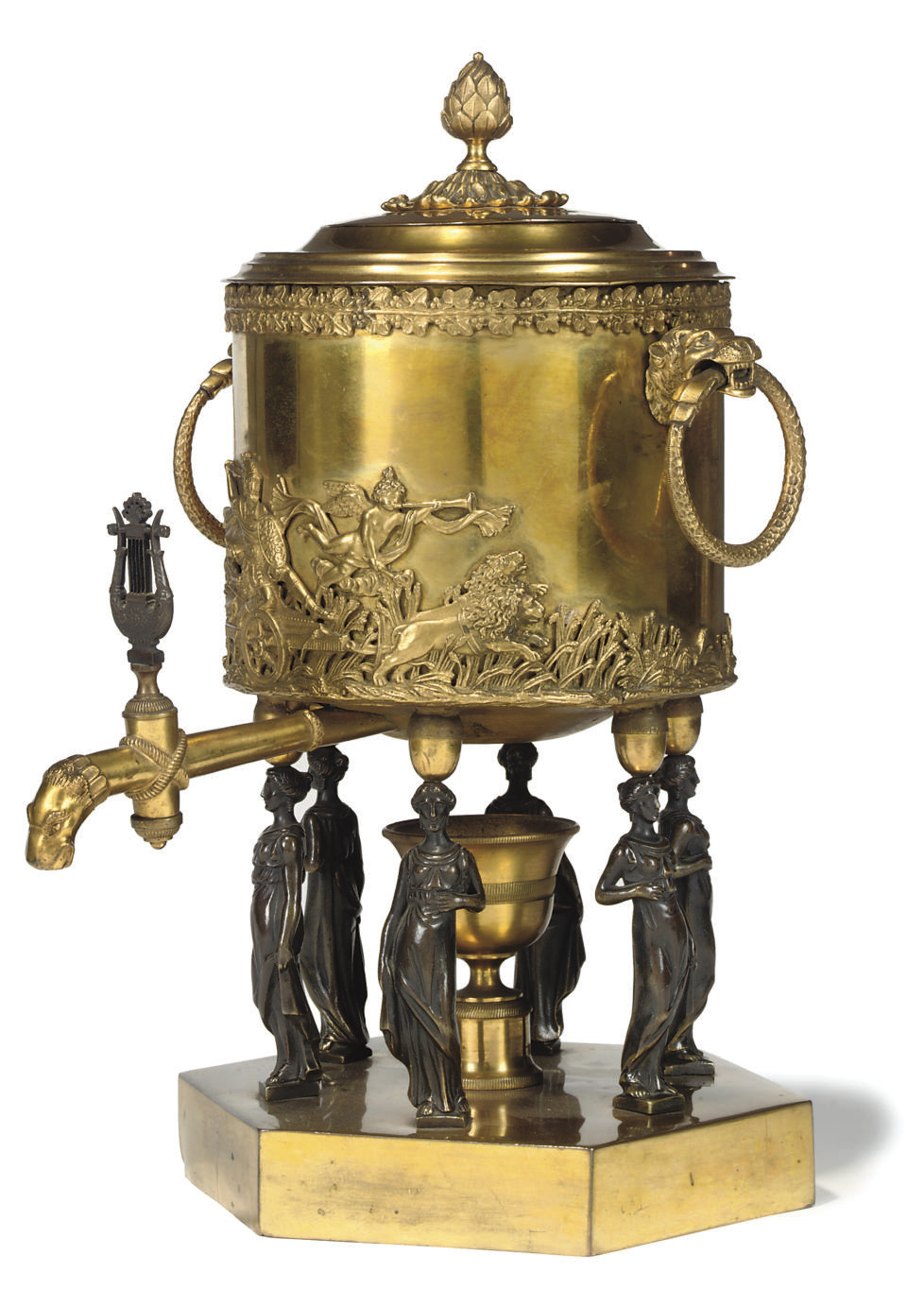 A NORTH EUROPEAN ORMOLU AND PA
