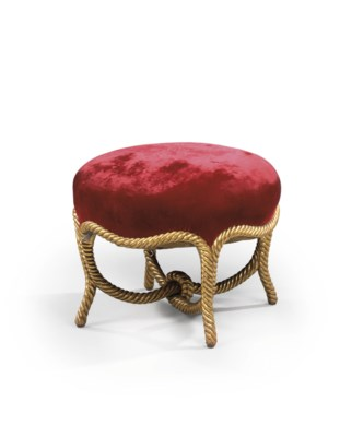 A FRENCH GILTWOOD STOOL