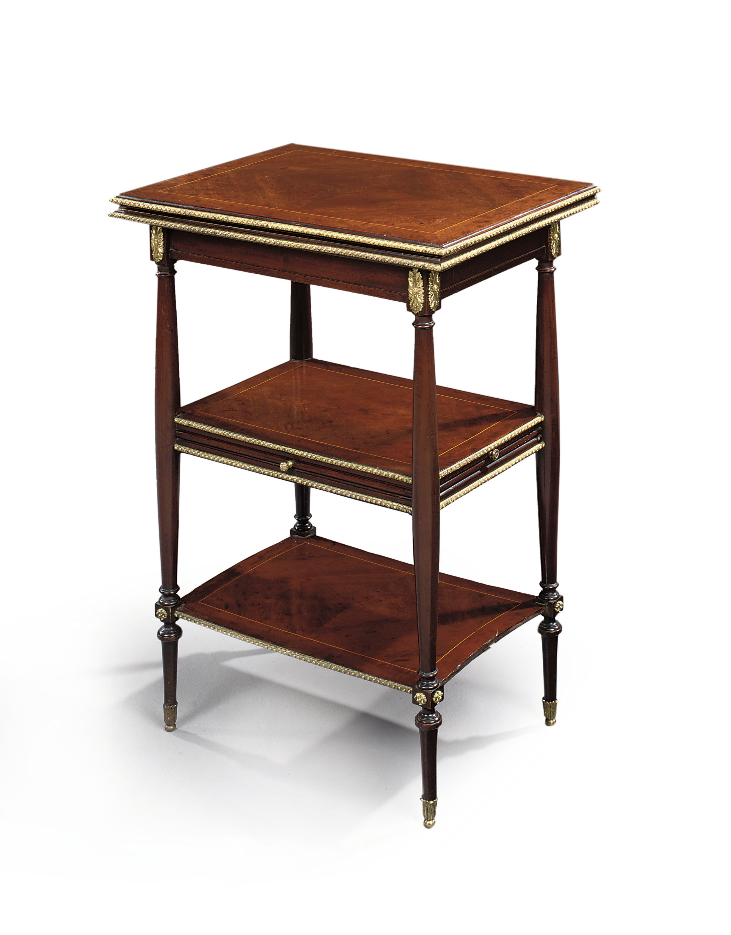 A MID-VICTORIAN ORMOLU-MOUNTED MAHOGANY ETAGERE