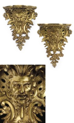 A PAIR OF REGENCE LACQUERED BR