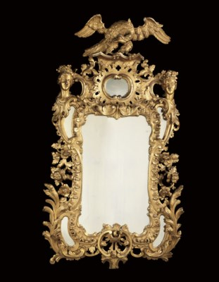 AN EARLY VICTORIAN GILTWOOD MI