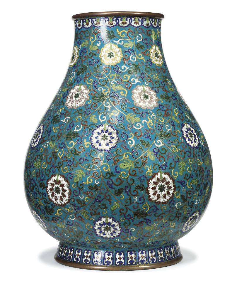 A CHINESE CLOISONNE ENAMELLED