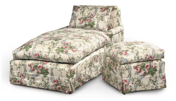 A DAYBED AND STOOL