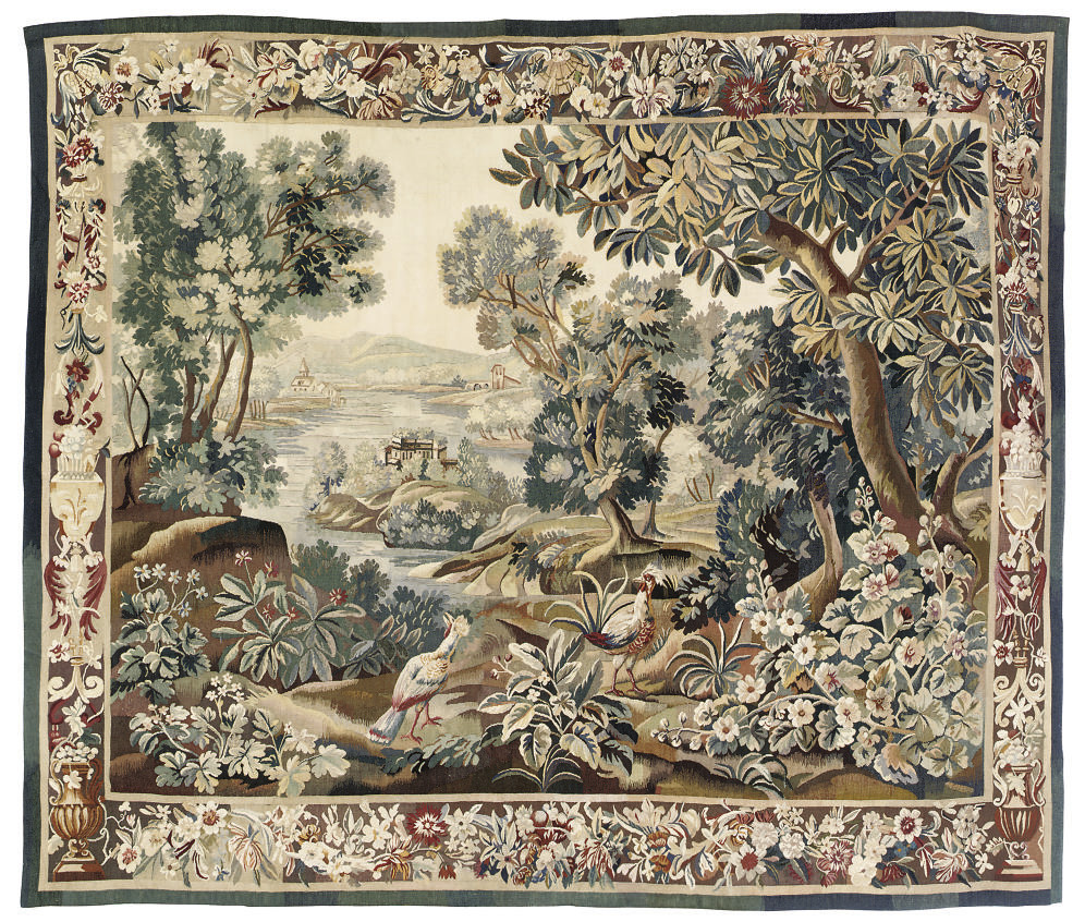A FRENCH VERDURE TAPESTRY