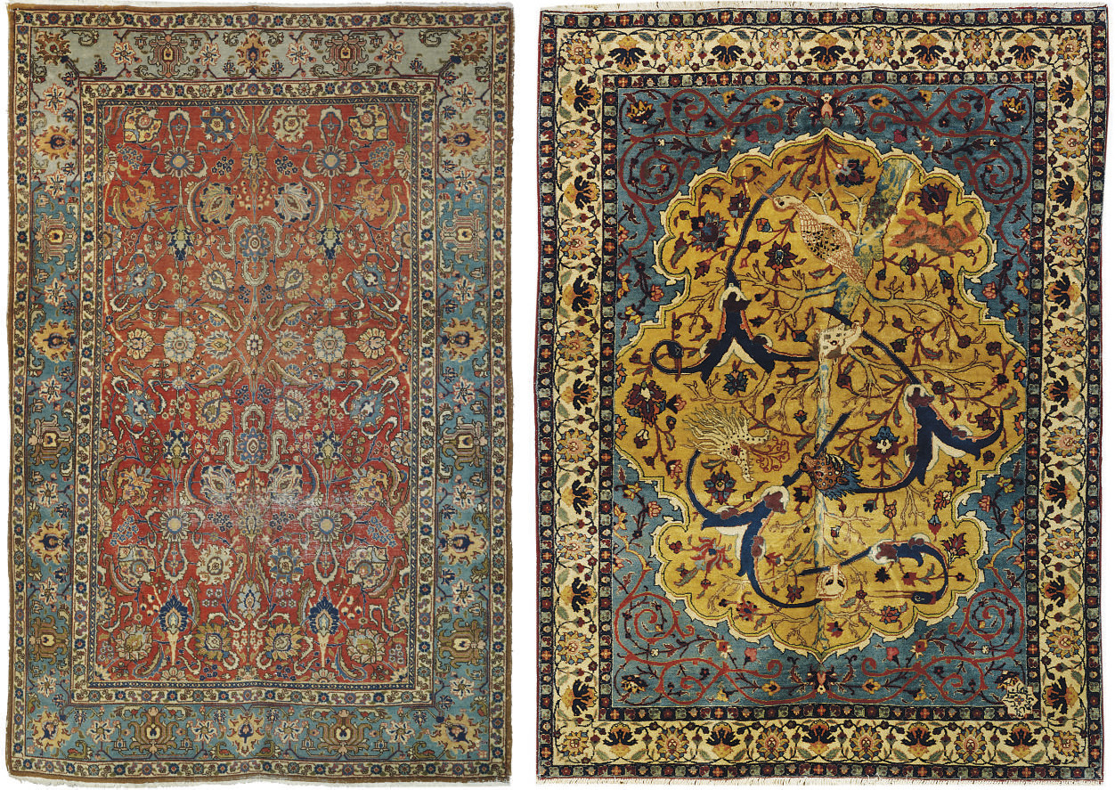 A TABRIZ CARPET AND A TABRIZ R