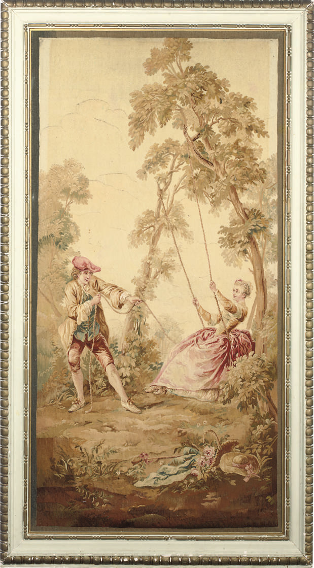 A FRENCH PASTORAL TAPESTRY PAN