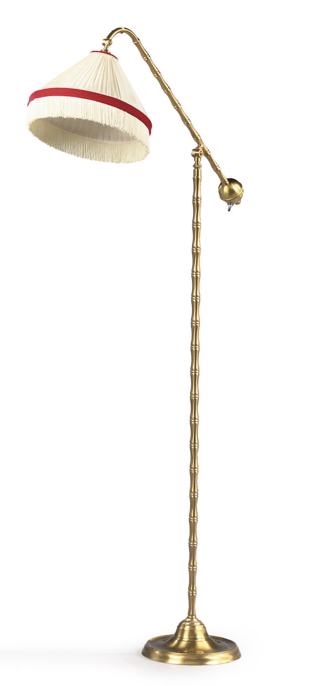 A BRUSHED-BRASS ANGLE-POISE ST